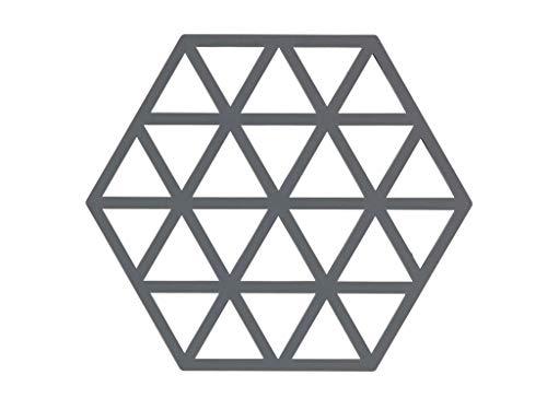 Dessous de Plat Design Triangles Silicone Gris