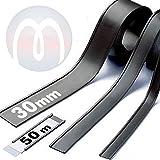 Perfil C Etiqueta Portaetiqueta magnética - ancho 30 mm - Perfiles magnéticos para estanterías o...