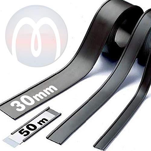 Perfil C Etiqueta Portaetiqueta magnética - ancho 30 mm - Perfiles magnéticos para estanterías o superfícies metálicas - que se vende por 50m rollo - Etiquetas y portaetiquetas magnéticas