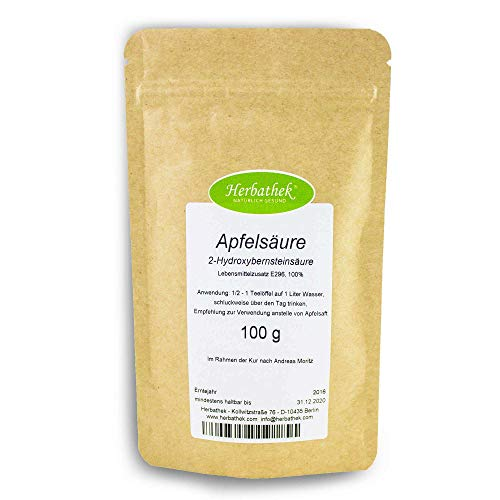Apfelsäure 250g von Herbathek als Apfelsaftersatz | Heilkräuter Made in Germany