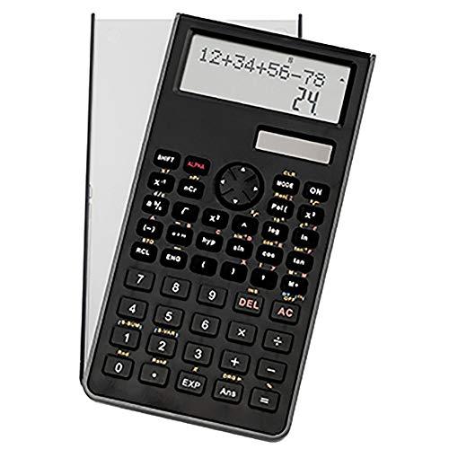 Genie 82 SC technisch-wetenschappelijke rekenmachine (240 functies, 10 cijfers, 2 regels display, incl. beschermdeksel) zwart