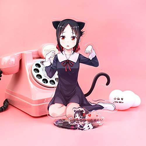 GYCOZ Haus Dekoration Anime Kaguya-Sama: Liebe ist Kriegsfest Acryl Stand Modell Spielzeug Fujiwara Chika Action Figure Dekoration Cosplay Sammlbare Geschenke (Color : 2)