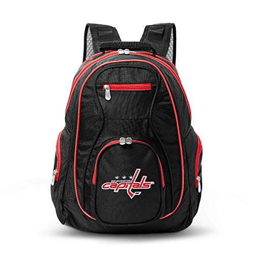 NHL Washington Capitals Premium Laptop Backpack with Colored Trim