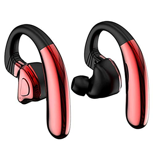 SPNEC Auriculares Bluetooth compatibles con Auriculares inalámbricos V4.2 for automóvil, Tiempo de Juego con teléfono móvil con cancelación de Ruido Micro (Color : Red)
