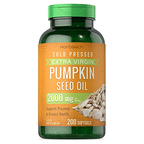 Pumpkin Seed Oil 2000mg | 200 Softgel Capsules | Cold Pressed | Supports...