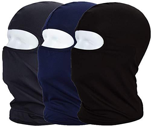 MAYOUTH Protection UV Cagoule de Cyclisme Masque léger Mince en Lycra Tissu Coupe-Vent Respirant Sports d extérieur Masque Complet 3-Pack