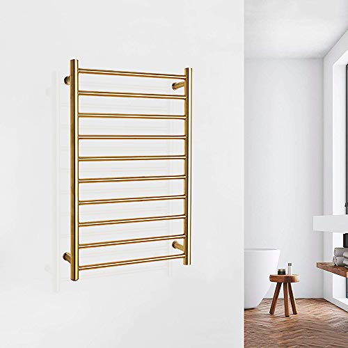 Sale!! ZJINHUI Heated Towel Bars with 10-Bar, Bathroom Wall Mounted Cloth Towel Heated Rack, 304 Sta...