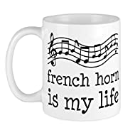 CafePress French Horn Is My Life Music Gift Mug Unique Coffee Mug, Coffee Cup