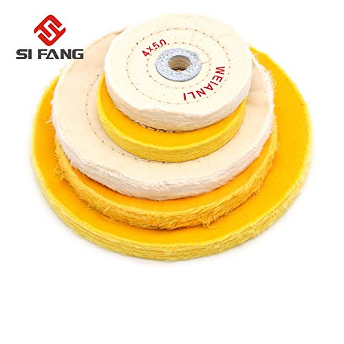 Best Buy! Xucus 1PC Cotton Polishing Wheels Cloth Buffing Wheel Grinder For Jewelry Wood Metal Polis...