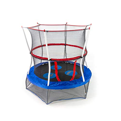 Skywalker Trampolines Mini Trampoline with Enclosure Net, 60 - inch, Blue