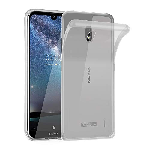 Cadorabo Hülle für Nokia 2.2 in VOLL TRANSPARENT - Handyhülle aus flexiblem TPU Silikon - Silikonhülle Schutzhülle Ultra Slim Soft Back Cover Hülle Bumper