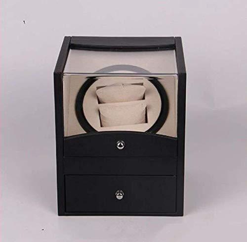 LJW Reloj DE Reloj AUTOMÁTICO Caja Black Brown PU Caja de Reloj automática de Reloj de Reloj eléctrico Caja de Motor Osciloscopio eléctrico Caja de Reloj | Código de Productos básicos: LJW-7