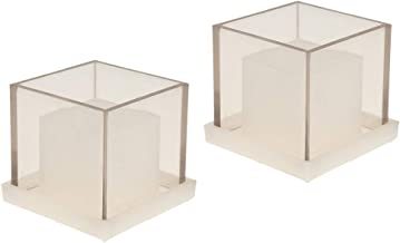 Prettyia 2 Pack Candle Making Mold Square Cube Hollow Center Candle Mould DIY Aromatherapy Scented Home Wedding Party Deco...