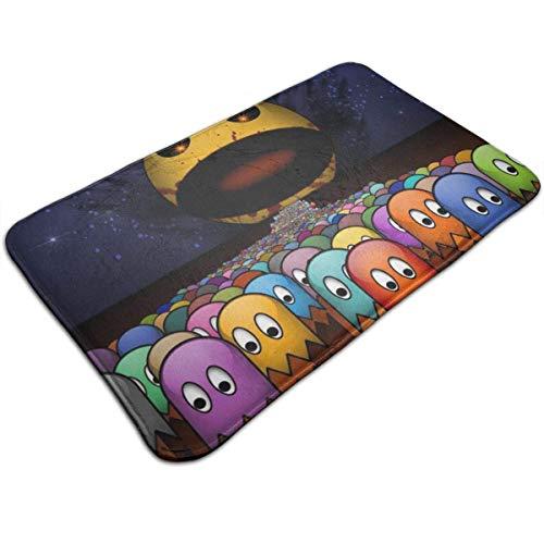 "Bikofhd Door Mat Pac-Man Non-Slip Bath MatDecorative Doormat,Bathroom Kitchen Floor Carpet Mat 19.5"" X 31.5"""