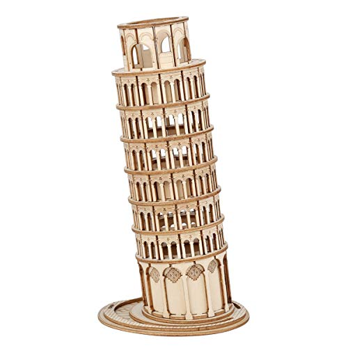 Rolife 3D Wooden Puzzle Woodcraft Construction Kit Model Kits For Kids, Teens and Adult (Leaning Tower of Pisa)