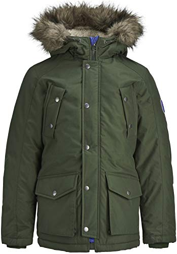 JACK & JONES Jungen Winterjacke JOREXPLORE Parka Jacket JUNIOR, Größe:164, Farbe:Forest Night