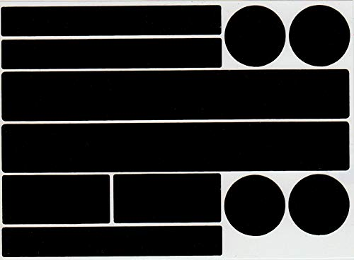 Set Reflektor Aufkleber, 22 Stück Reflexsticker, reflektierende Aufkleber, Reflektoren, selbstklebend (Schwarz)