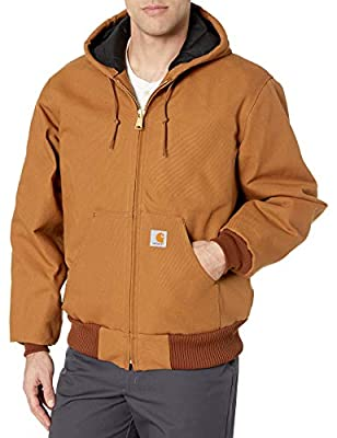 Carhartt Men's Quilted Flannel Lined Duck Active Jacket J140,Brown,XX-Large by Carhartt Apparel Mens