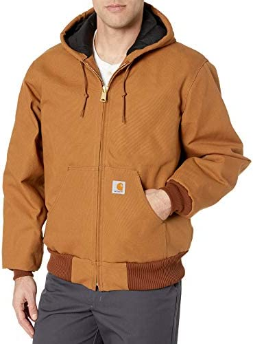 Carhartt Men s Big Tall Quilted Flannel Lined Duck Active Jacket J140 Brown XX Large Tall product image