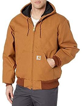Carhartt Men s Quilted Flannel Lined Duck Active Jacket J140,Brown,Medium