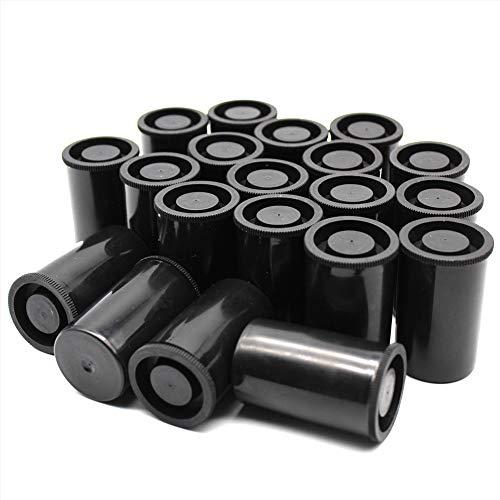 LUCY WEI 20PCS Película latas de Geocatching para ocultar micro cachés de Geocaching, bote de carrete o mini contenedores(negro)