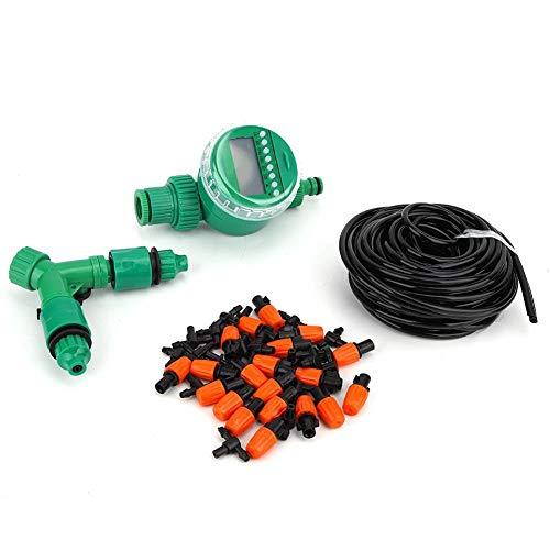 LSAR Bewässerungsset, Einstellbarer Düsen-Bewässerungs-Timer-Schlauchsatz, automatische Sprinkleranlage für Blumen