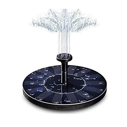 Solar Schweben Springbrunnen, LIUMY 1.4W Solar Teichpumpe mit effizient Konvertierung, Solarpumpe für Garten mit 150 l/h Durchfluss, Beste Gartenwählen Wasserpumpe (Rund)