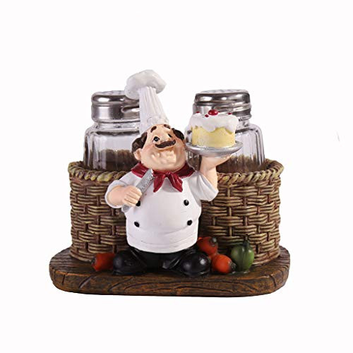 JIABAN Creative Spice Jar Chef Estatua Decoración Craft Condimento Caja Set