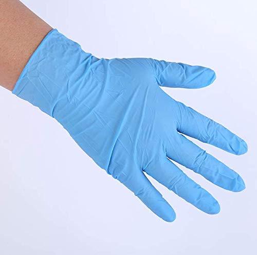 Musen Barber Shop Einweg-Latexhandschuhe Violettblau Sterilisationsexperiment Schutzgummi Wasserdichtes Puderfreies Dingqing Abnehmbar L.