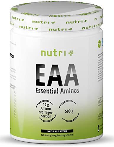 EAA PULVER Neutral 500g - Höchste Dosierung - Instant EAAs ohne Süßstoff, Zusatzstoffe & künstlichen Geschmack - essentielle Aminosäuren - Vegan Essential Aminos