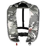 EYSON ライフジャケット フローティングベスト 救命胴衣 釣り用 CE認定 男女兼用 自動/手動膨張 (白い迷彩,自動)…