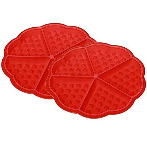 Sumaju gaufré Moule à gâteau, Moule en silicone gaufré Mini Cœur Moule à gâteau muffin Cookie Dessert Moule à cuisson