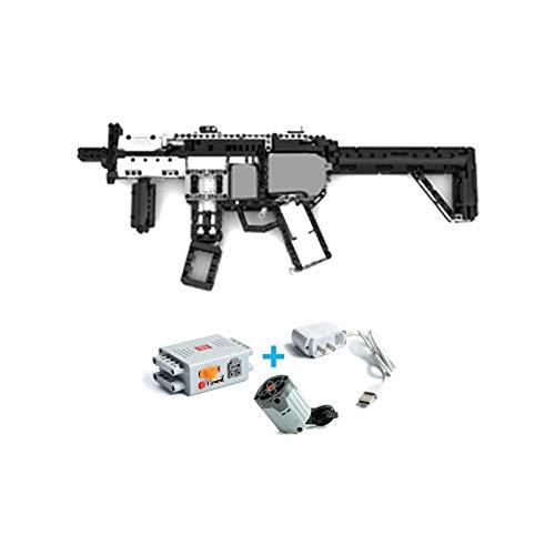 NIKRVE Aggiornato Ver Technic Pistola Motorizzata Mp5 Fucile Mitragliatore Set Modello Moc Building Blocks Mattoni Ragazzi Regali Giocattoli Fai da Te per Bambini