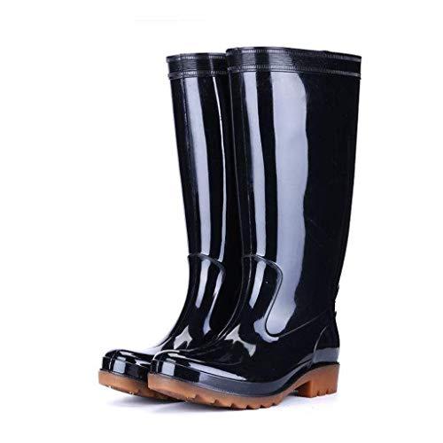 YQQMC - Botas de lluvia para hombre, color negro, talla 41
