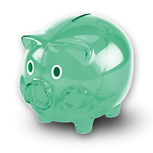 Transparent Cute Piggy Bank, Makes a Perfect Unique Gift, Nursery Decor, Keepsake, or Savings Piggy...