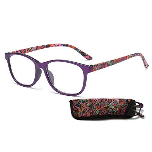 Xin Hai Yuan Gafas De Lectura Ultraligeras para Hombres Y Mujeres, Gafas para Presbicia, Lector De Resina HD, Gafas Graduadas para Hipermetropía, Gafas con Dioptrías,Púrpura,+2.5