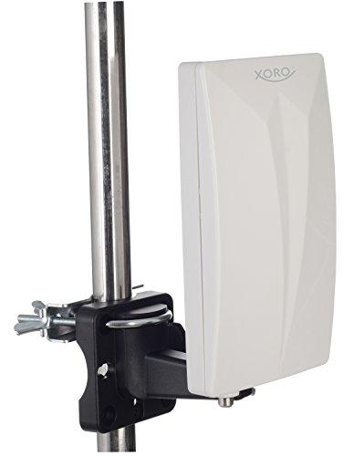 Xoro HAN 600 P Passive DVB-T2 Kombo Antenne mit eingebautem Verstärker (LTE Filter, Rauschfilter, 3,5m Anschlusskabel) weiß