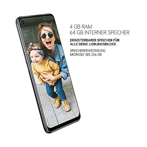 OPPO A54 5G Smartphone, 48 MP KI-Vierfachkamera mit Ultra Nacht Video, 6,5 Zoll 90 Hz FHD+ Neo-Display, 5.000 mAh Akku, 5G-Prozessor, 64 GB Speicher, 4 GB RAM, ColorOS 11.1, Dual-SIM, Fluid Black - 3