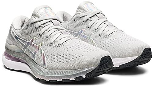 ASICS Gel-Kayano 28 Platinum, Chaussures de Running pour Femme, Gris (GlacierGrey White 020), 42.5 EU