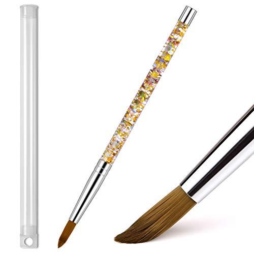 Morovan Acrylic Nail Brush - 1PCS Pure Kolinsky Sable Hair Round Oval Professional Nail Art Painting...