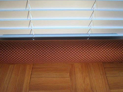 Door Draft Stopper Fabric Only Medium Weight Cotton Fabric Brown Custom Made 24 inches - 42 inches X 3.5 inches Short Extra Long You Pick Length Same Price