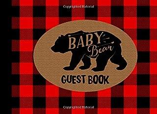 Baby Bear Guest Book: Lumberjack Baby Shower, Gender Neutral