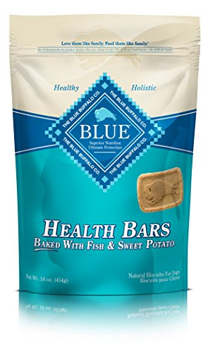 Blue Buffalo Health Bars for Dogs, Fish and Sweet Potato, 16-Ounce Bag by Blue Buffalo (English Manual)