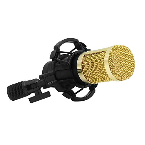 Voupuoda BM800 Microfone Condensador Kit de Microfone de Baixo Ruído Portátil de Alta Sensibilidade para Computador Estúdio de Telefonia Móvel Gravação de Transmissão de Transmissão Ao Vivo