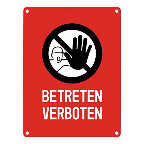 trendaffe - Betreten verboten Warn- und Hinweisschild in Rot mit Piktogramm
