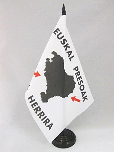 AZ FLAG Bandera de Mesa del PAÍS Vasco EUSKAL HERRIRA 21x14cm - BANDERINA de DESPACHO Vasca - EUSKADI 14 x 21 cm