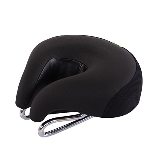 Sport Tent Fahrrad Sattel Fahrradsattel ohne Nase MTB Hohl Ergonomisch Fahrradsitz Komfortable Rennrad Tourensattel Herren Damen, Schwarz
