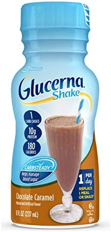 Glucerna, Diabetes Nutritional Shake, With 10g of Protein, To Help Manage Blood Sugar, Creamy Strawberry, 8 fl oz (Pack of 24)