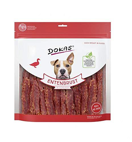 Dokas Getreidefreier Premium Snack in Streifen für Hunde – Aus Entenbrustfilet, 1 x 900 g