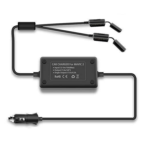 Tineer Caricabatteria da Auto Intelligente Dual Battery per DJI Mavic 2 Zoom/PRO Battery